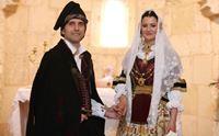 gli sposi nella chiesetta di san giuliano a selargius