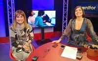 egidiangela sechi e la sua ospite rosa maura cocco in studio prima della diretta