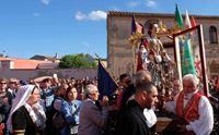 un momento del pellegrinaggio di sant efisio verso pula