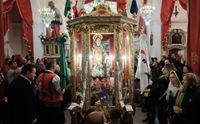 il ritorno del santo nella chiesetta di stampace