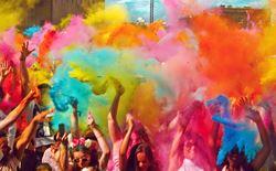holi color run music