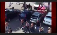 la guerriglia prima di cagliari brescia arrestato un tifoso rossobl