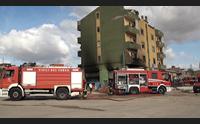 cagliari incendio in una palazzina evacuate 11 famiglie