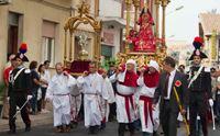 un momento della processione di santa greca a decimomannu
