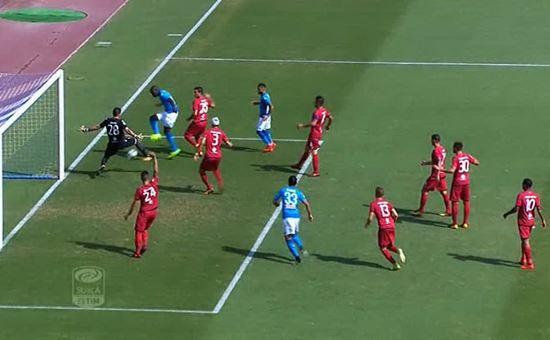 il terzo gol del napoli segnato da koulibaly