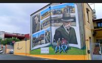 assemini un grande murale per raccontare pagine di storia