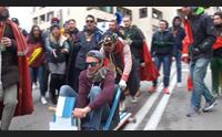sassari universitari in festa la spericolata corsa dei carruzzi