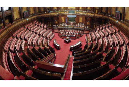 Venerd l 39 insediamento di camera e senato 25 i for Senato e camera