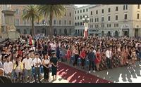 sassari l universit festeggia gli studenti con le lauree in piazza
