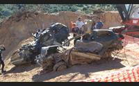 alluvione di olbia recuperate le auto cadute nel burrone di monte pino