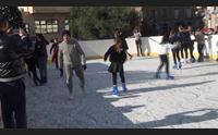 sanluri saluta il nuovo anno con una pista di pattinaggio sul ghiaccio