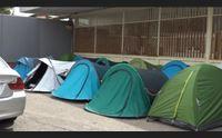 cagliari in tenda aspettando vasco noi accampati per la prima fila
