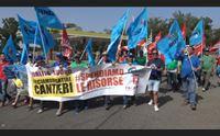 abbasanta sulla 131 la protesta degli edili sbloccate i cantieri