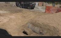 stop ai lavori per i parcheggi a loculi sotto la piazza c un sito nuragico