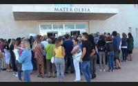 mater olbia migliaia di persone in fila successo dell open day