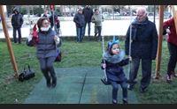 a isili il dono del centenario nel parco nuovi giochi per i bambini