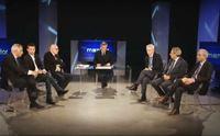 nicola scano con i 7 candidati alla presidenza della regione