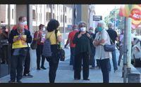 sanit al collasso protestano i pensionati del sindacato usb