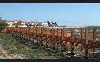 passerella per salvare le dune bufera a la caletta di siniscola