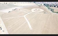 villaspeciosa disegni nei campi ma l extraterrestre l artista luigi serra