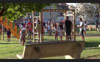 barrali inaugurato lo spaziongiochi diventer il parco del donatore