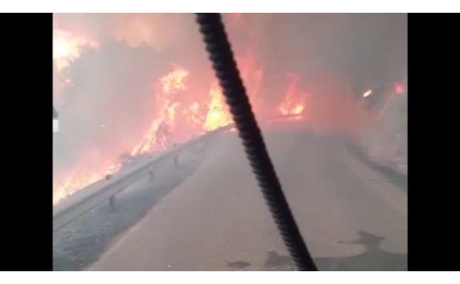 inferno di fuoco nel montiferru case evacuate e boschi in cenere